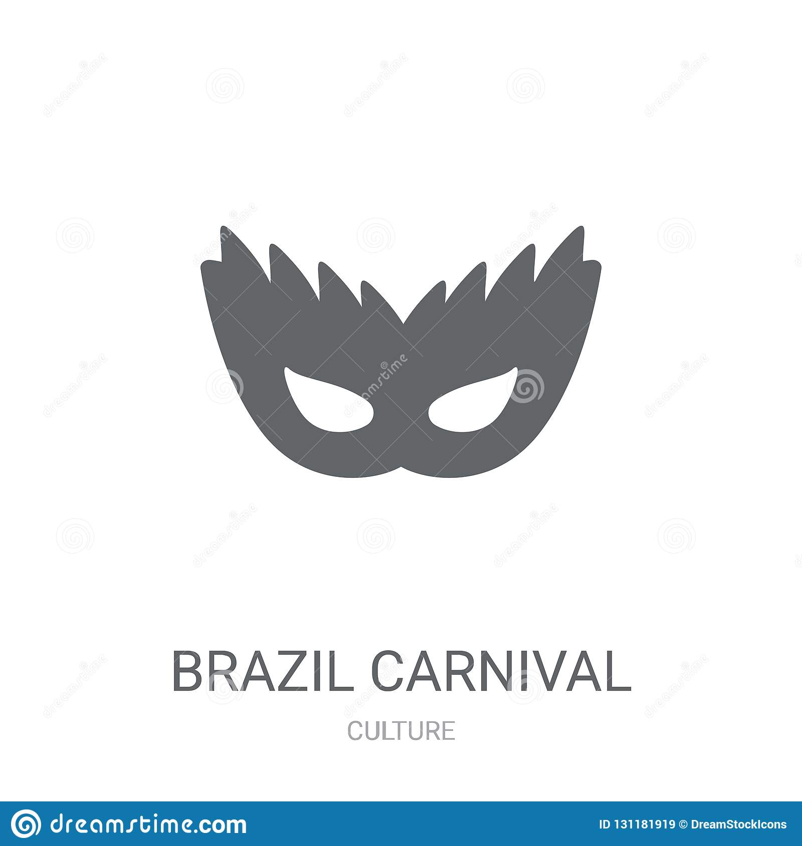 Brazil carnival mask icon. Trendy Brazil carnival mask logo concept on white background from Culture collection