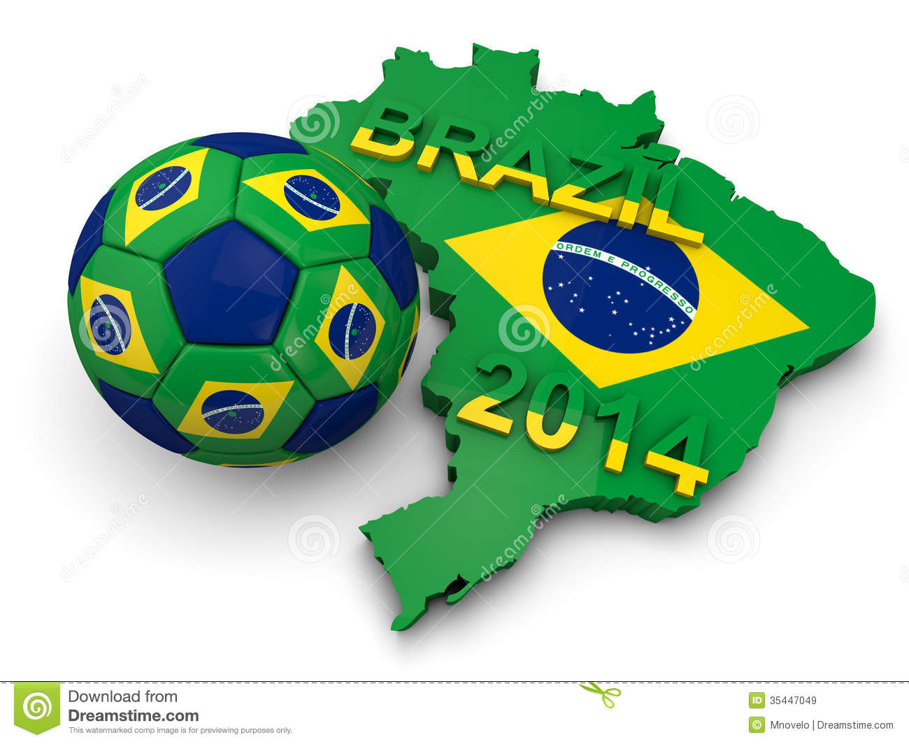 Brazil Football World Cup Royalty Free Stock Images Image 35447049