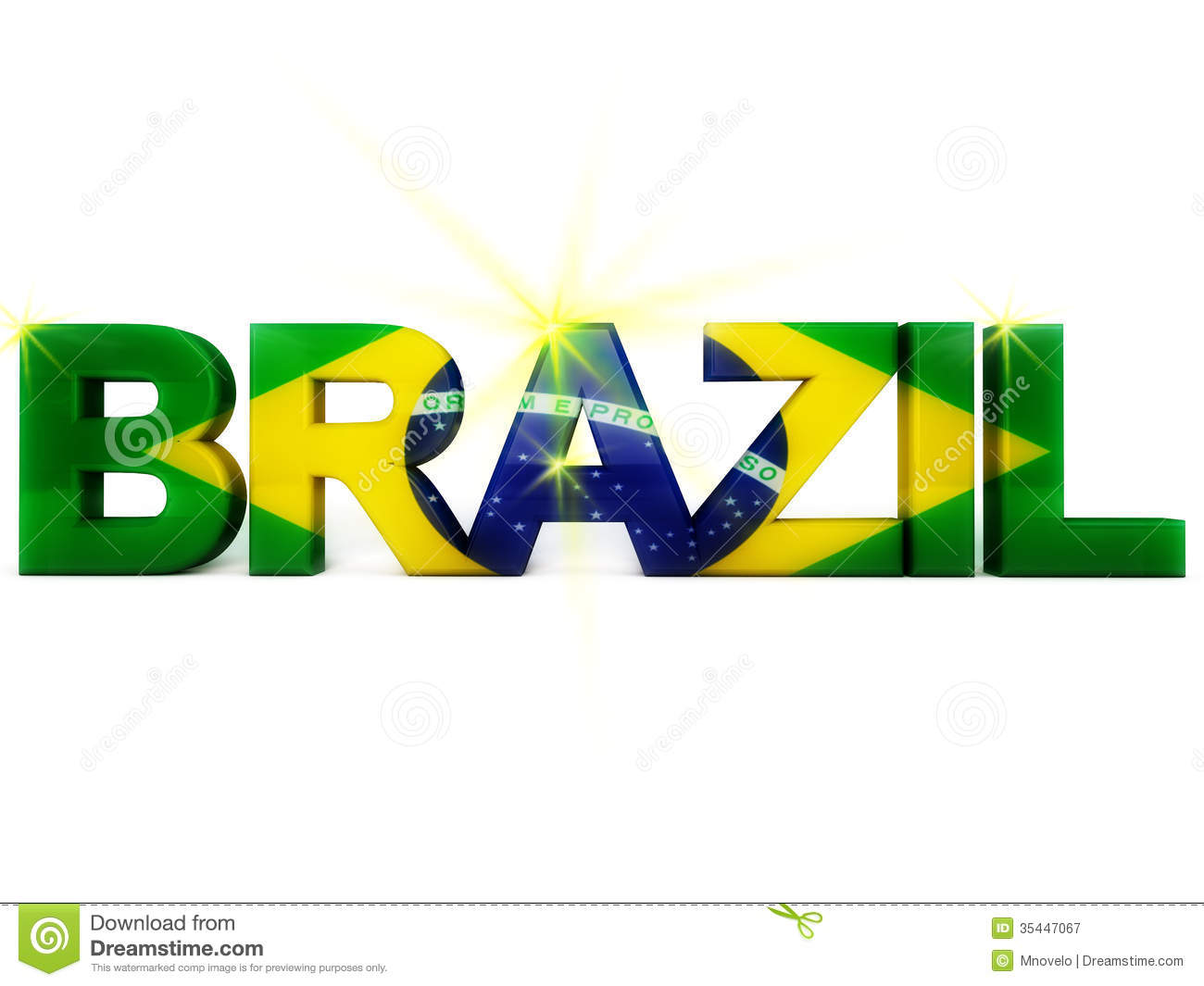 Brazil Football Royalty Free Stock Photography - Image: 35447067