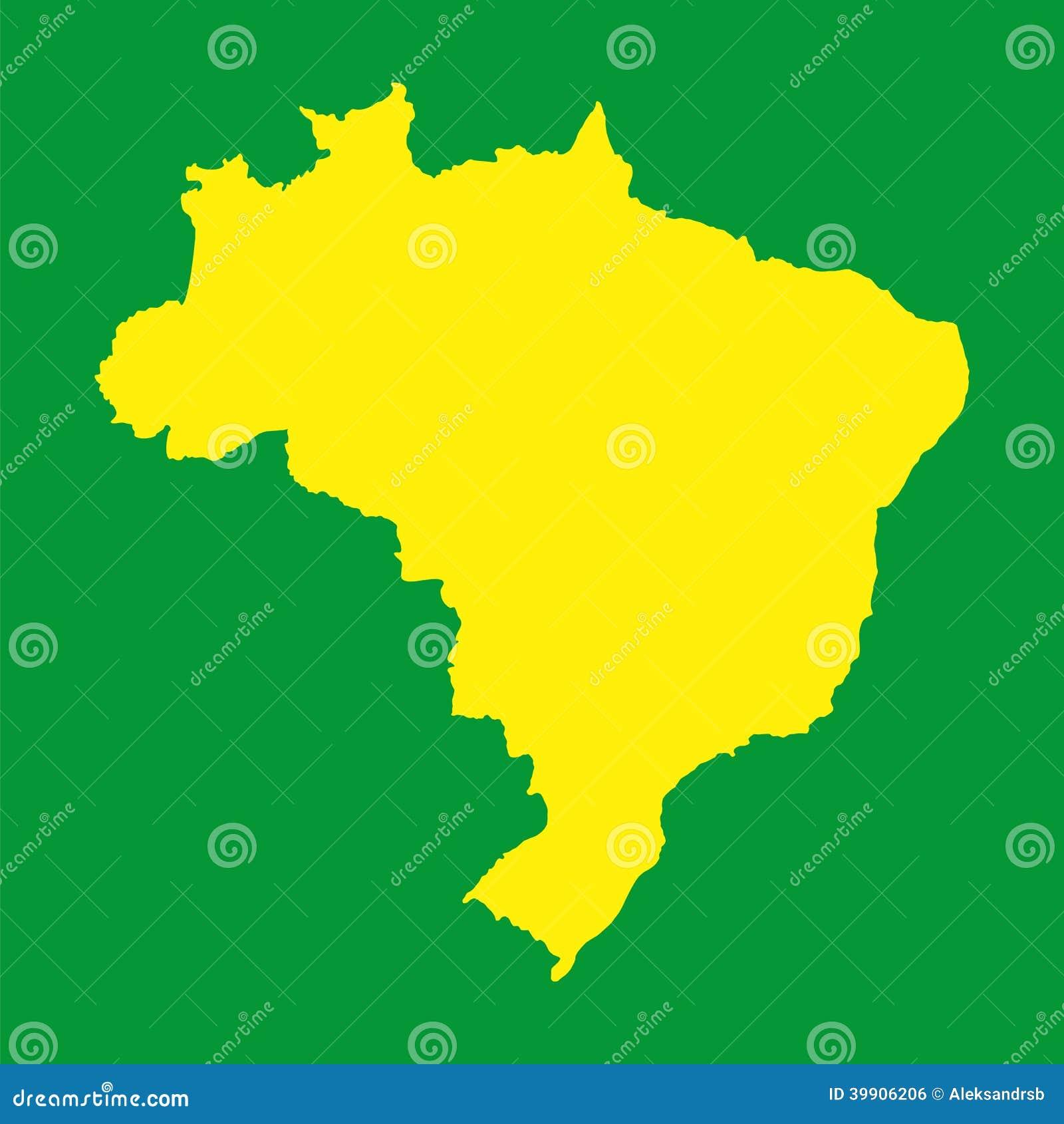 Brazil Map Background For Your Presentations Stock Vector Image - Brazil map illustration