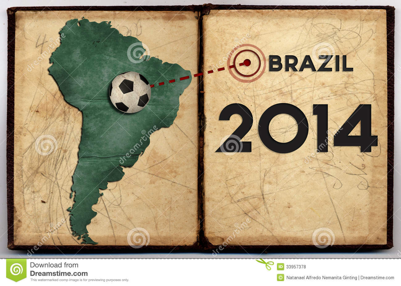 Brazil map 2014 world cup