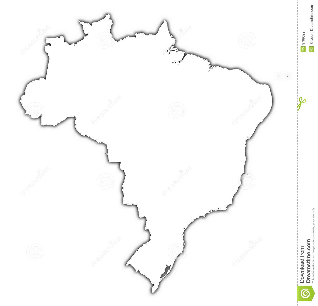 brazil outline map with shadow royalty free stock images image 3769099 treasure map border vector treasure map vector image