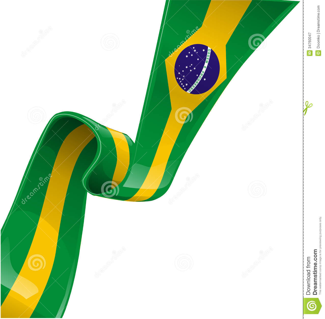 brazil ribbon flag royalty free stock photography image filmstrip clipart decorative border filmstrip clipart decorative border
