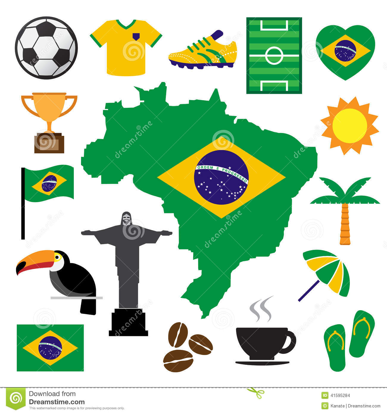 brazil and soccer icon set stock vector image 41595284 beach umbrella clipart png beach umbrella clipart black and white