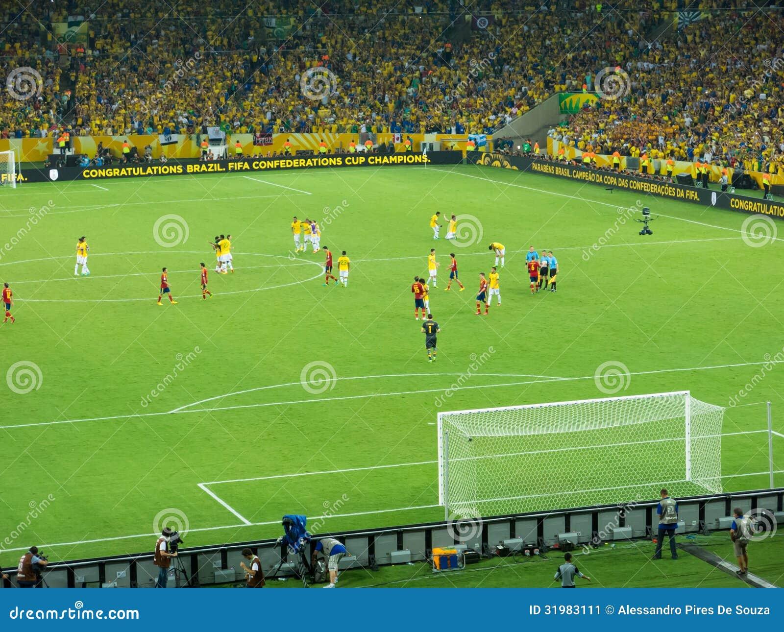 Final match brazil 3 0 spain fifa confederations cup final maracana