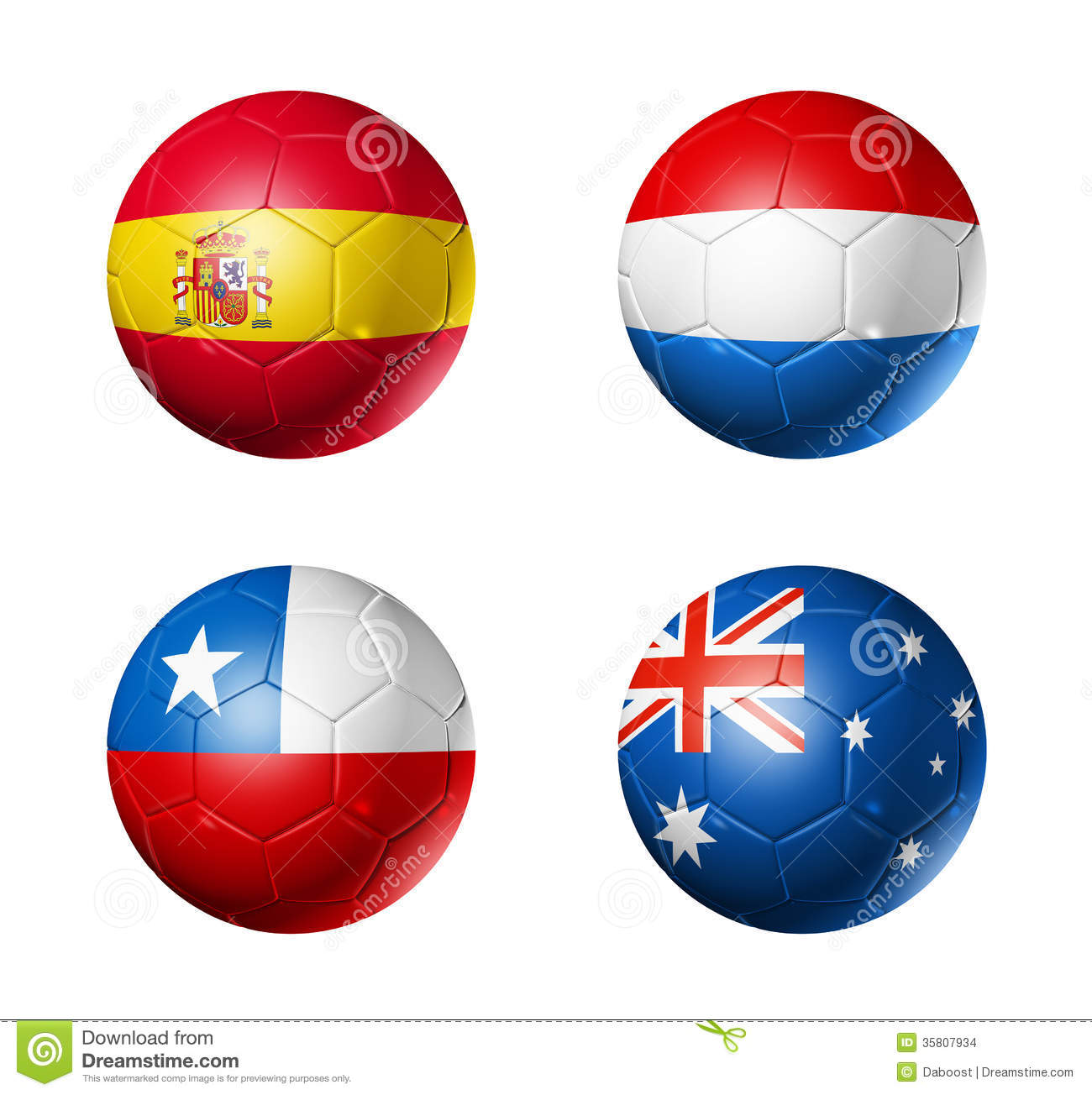 Brazil world cup 2014 group B flags on soccer ball