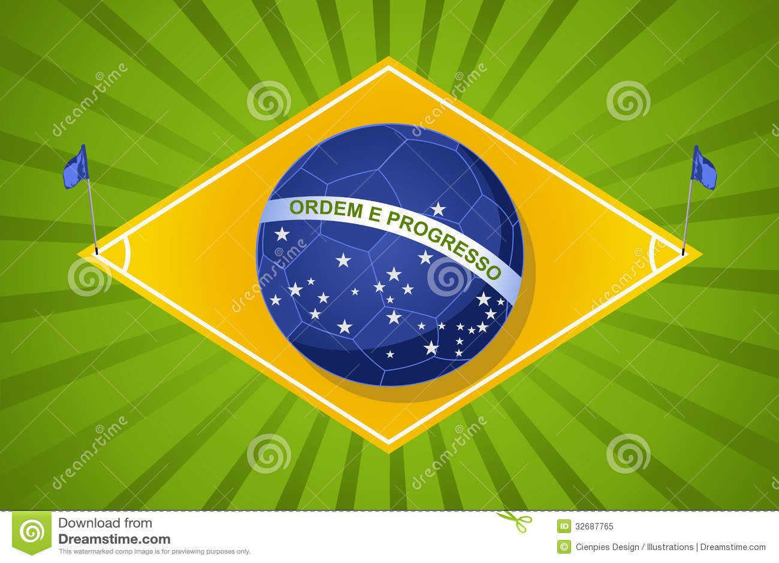 Brazil 2014 World Soccer Championship, Court Flag Ball