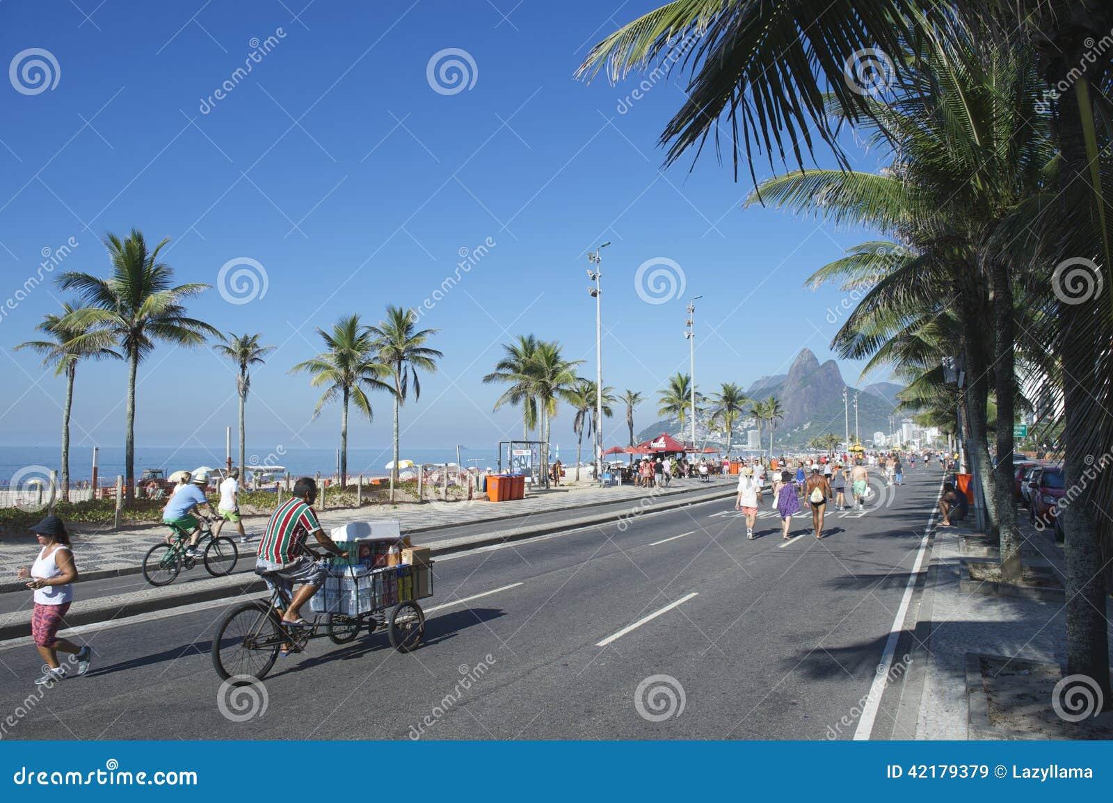Brazilian Bike Rider Ipanema Rio Editorial Stock Image ...