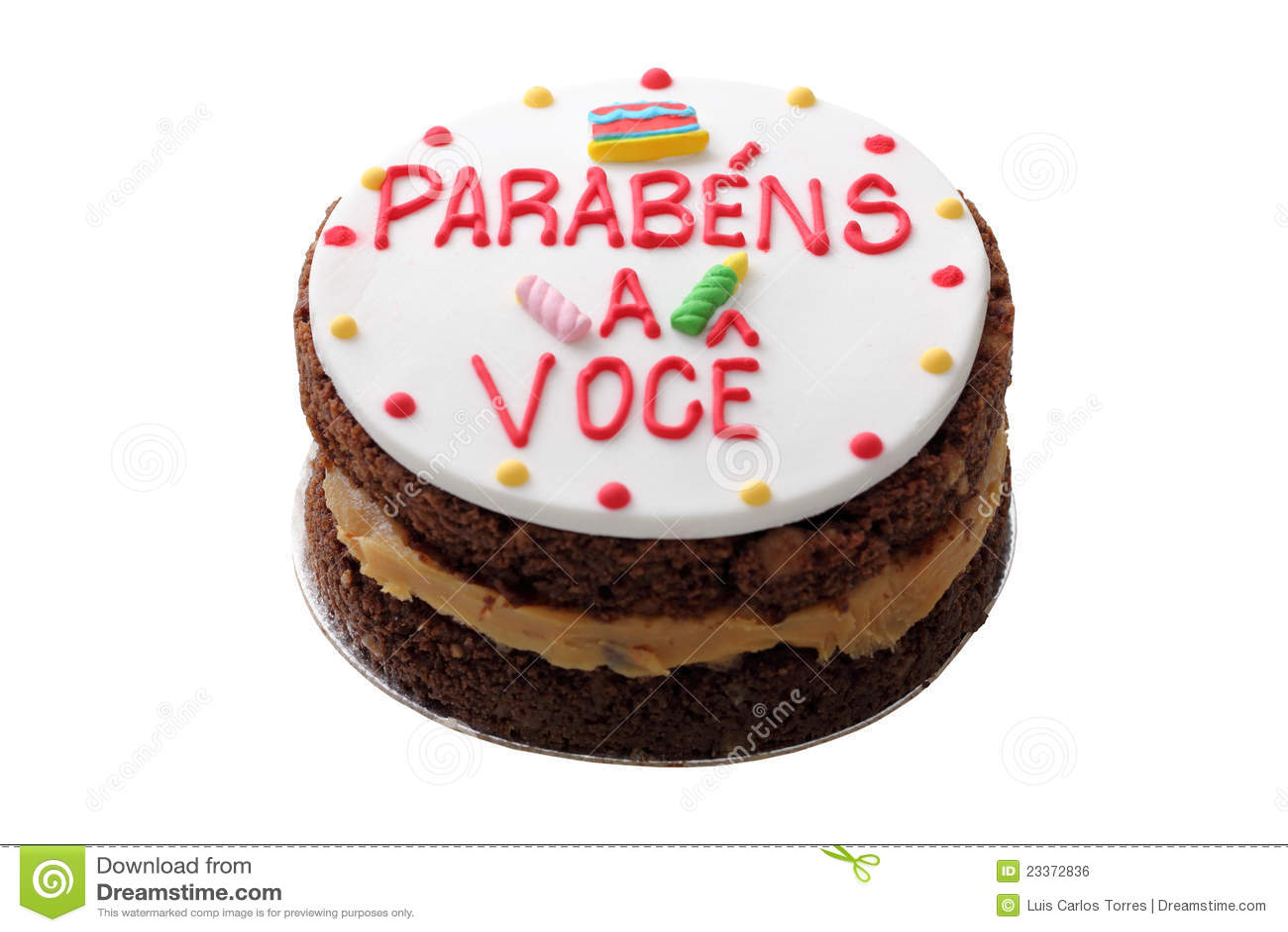 Phenomenal Brazilian Birthday Cake Stock Photo Image Of Isolated 23372836 Funny Birthday Cards Online Inifodamsfinfo