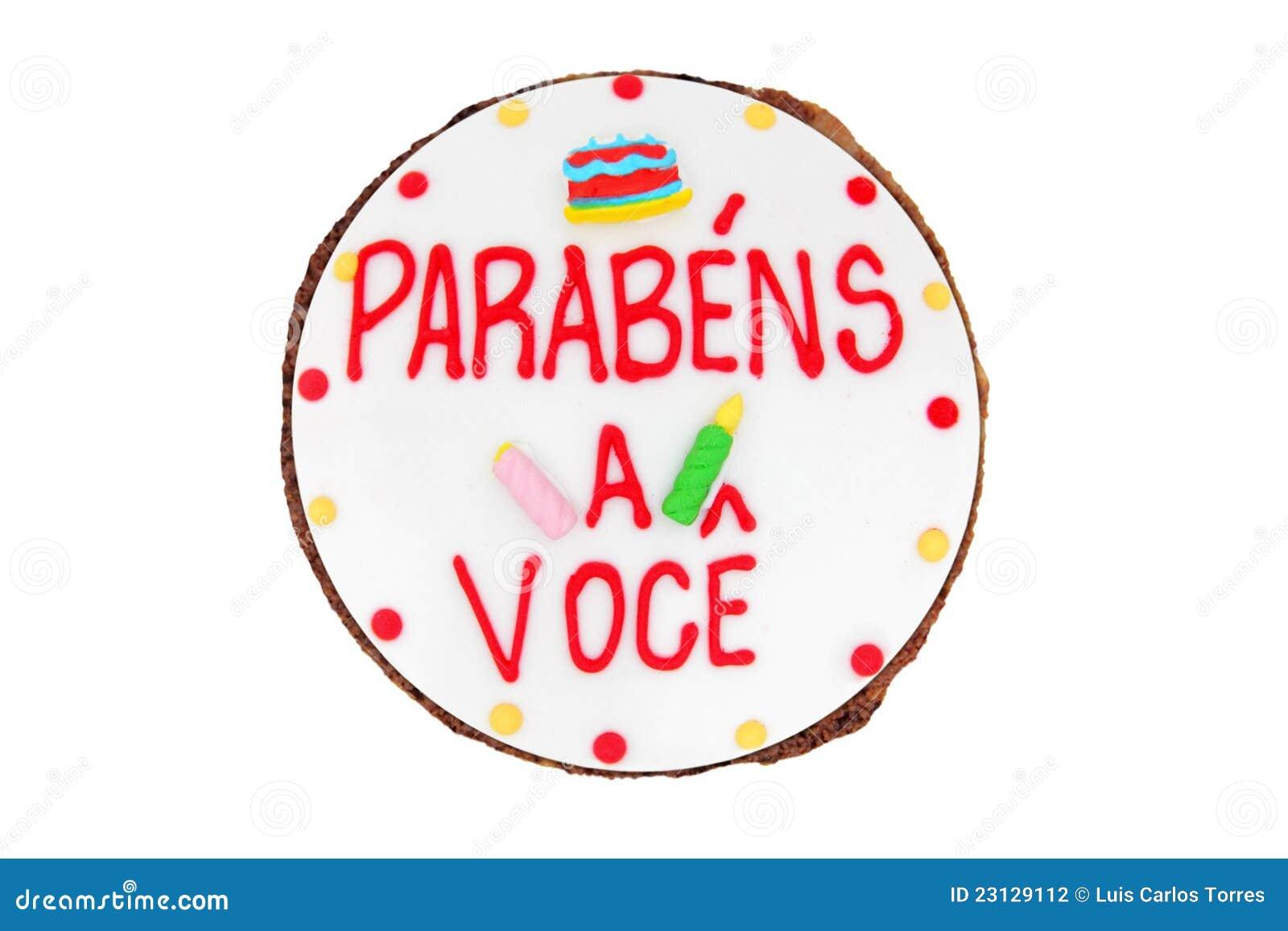 Brazilian birthday cake top view