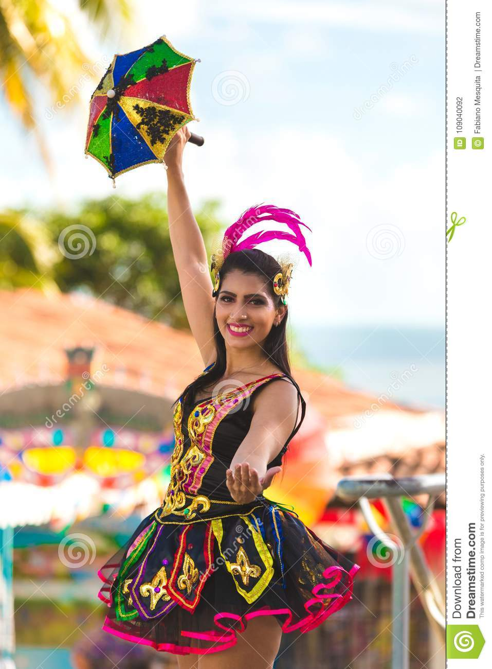 Brazilian Carnival 2018 stock photo  Image of brazil - 109040092