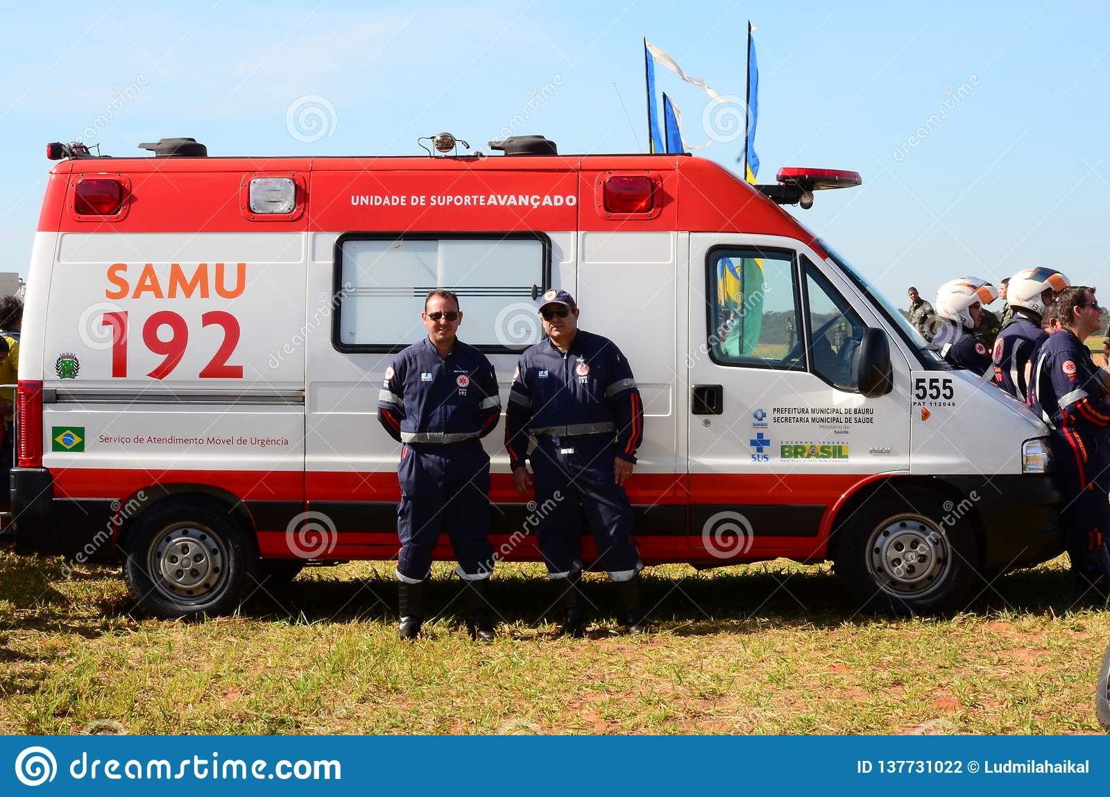 Brazilian Emergency Rescue Service SAMU standing by for a possible call