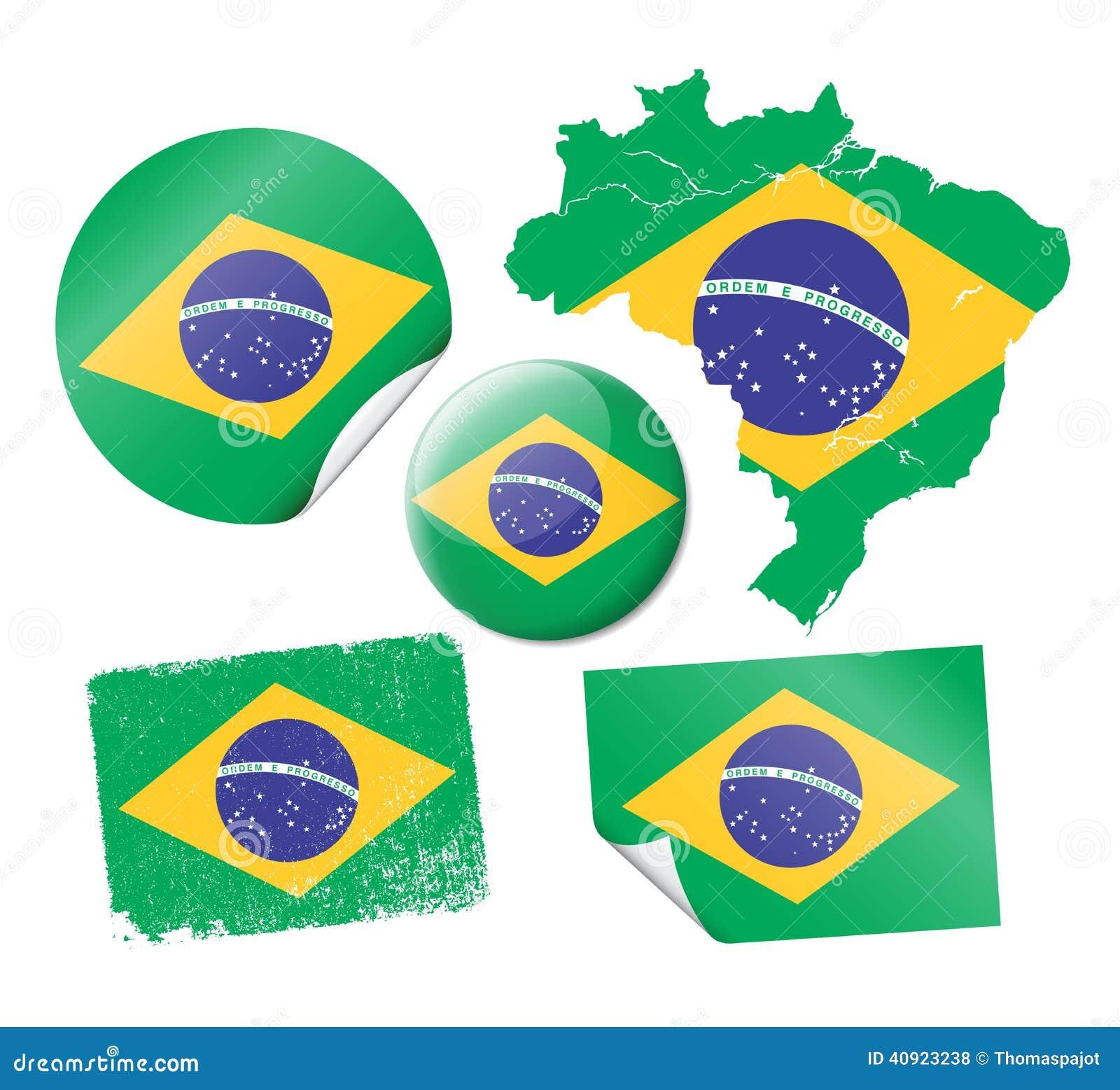 Brazilian flags