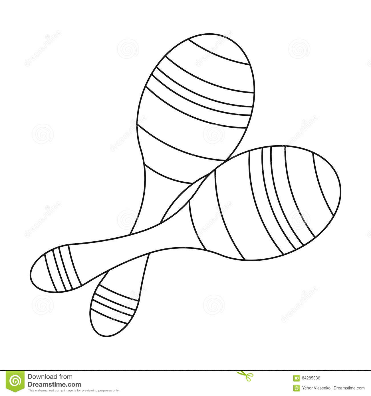 3ef01000611e Brazilian Maracas Icon In Outline Style Isolated On White Background. Brazil  Country Symbol Stock Vector Illustration. Vector Illustration