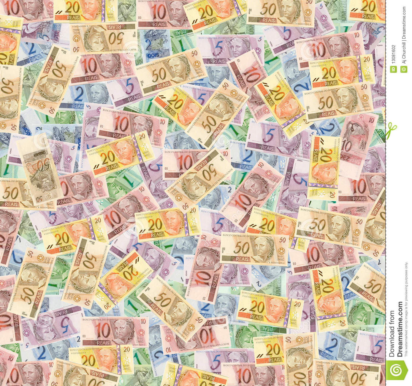 Brazilian Money (Reais) Stock Photography - Image: 13081602