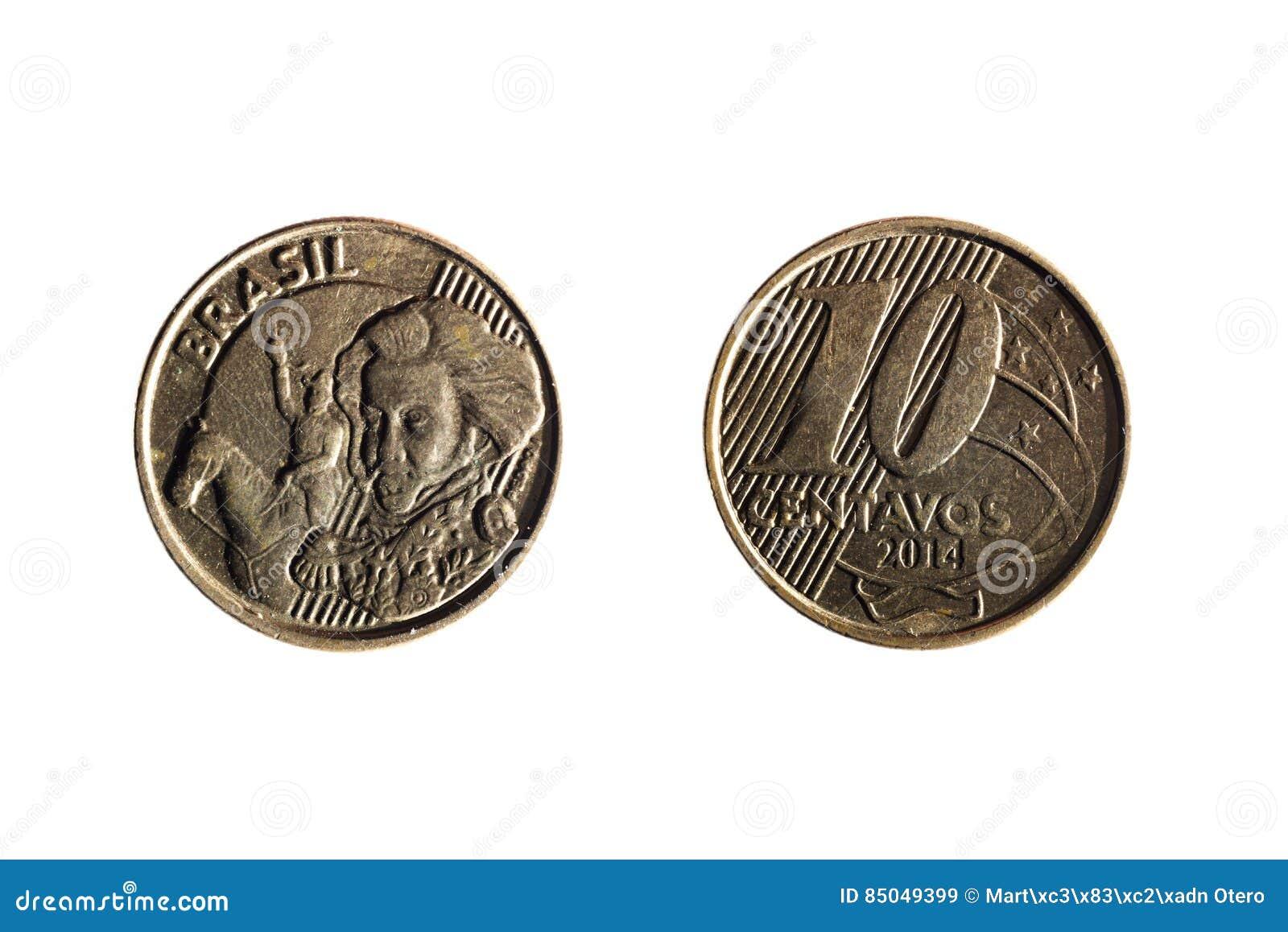 Brazilian real ten cents coin