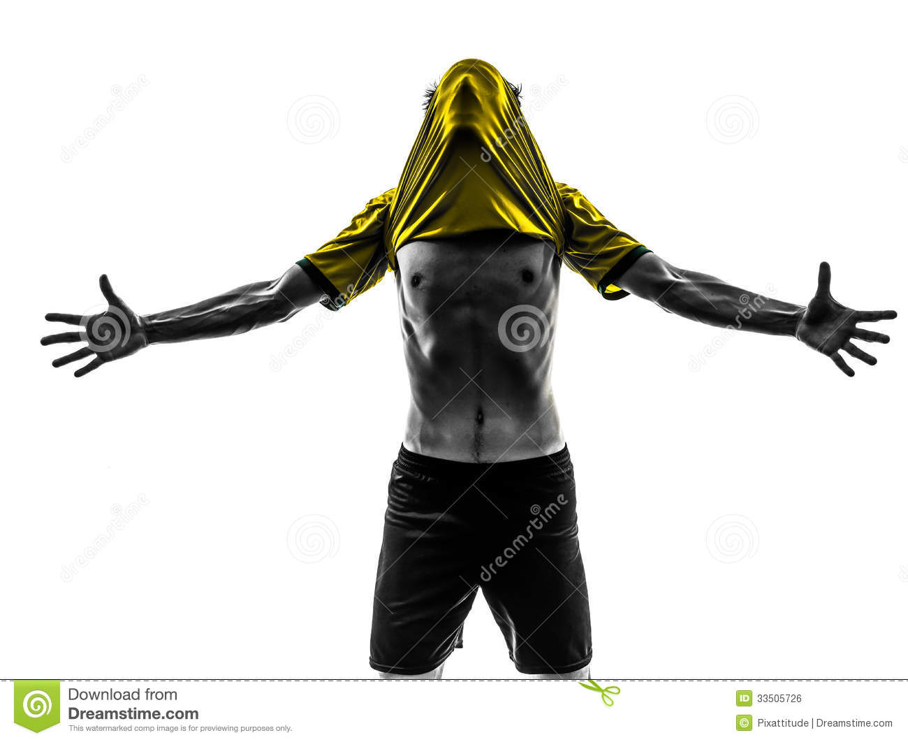... : Brazilian soccer football player young happiness joy man silhoue