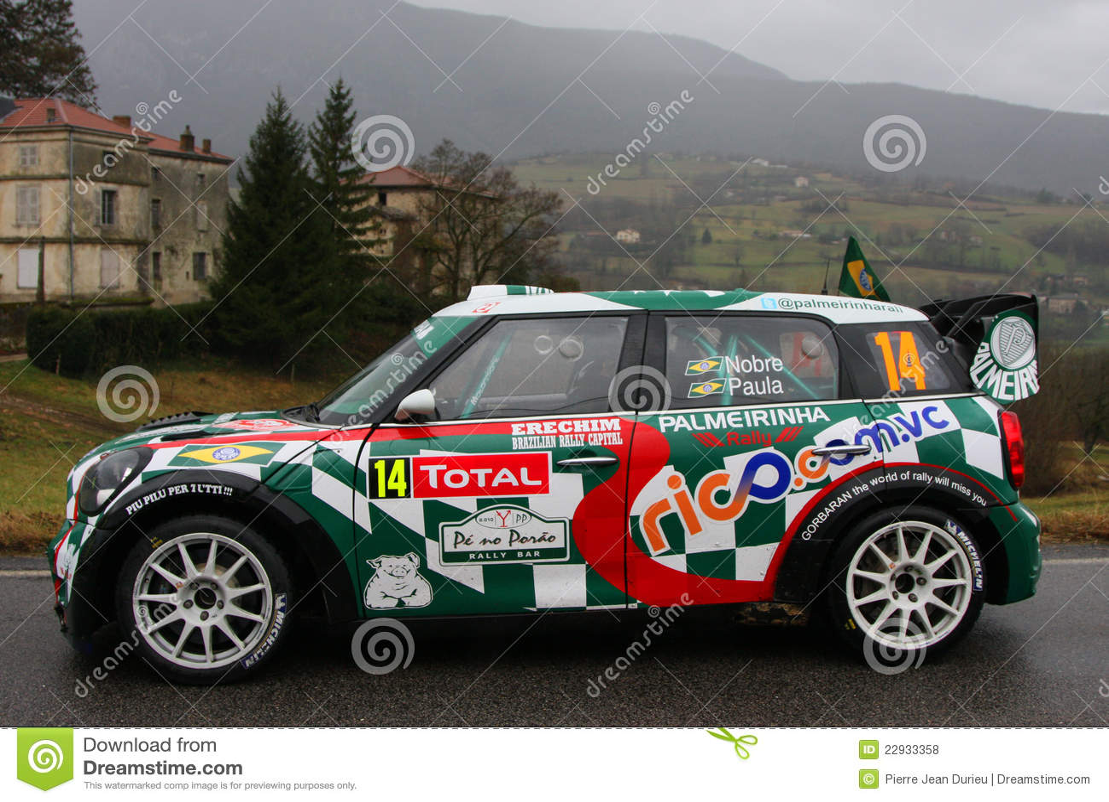Brazilian Team At Monte Carlo Rally Editorial Stock Photo