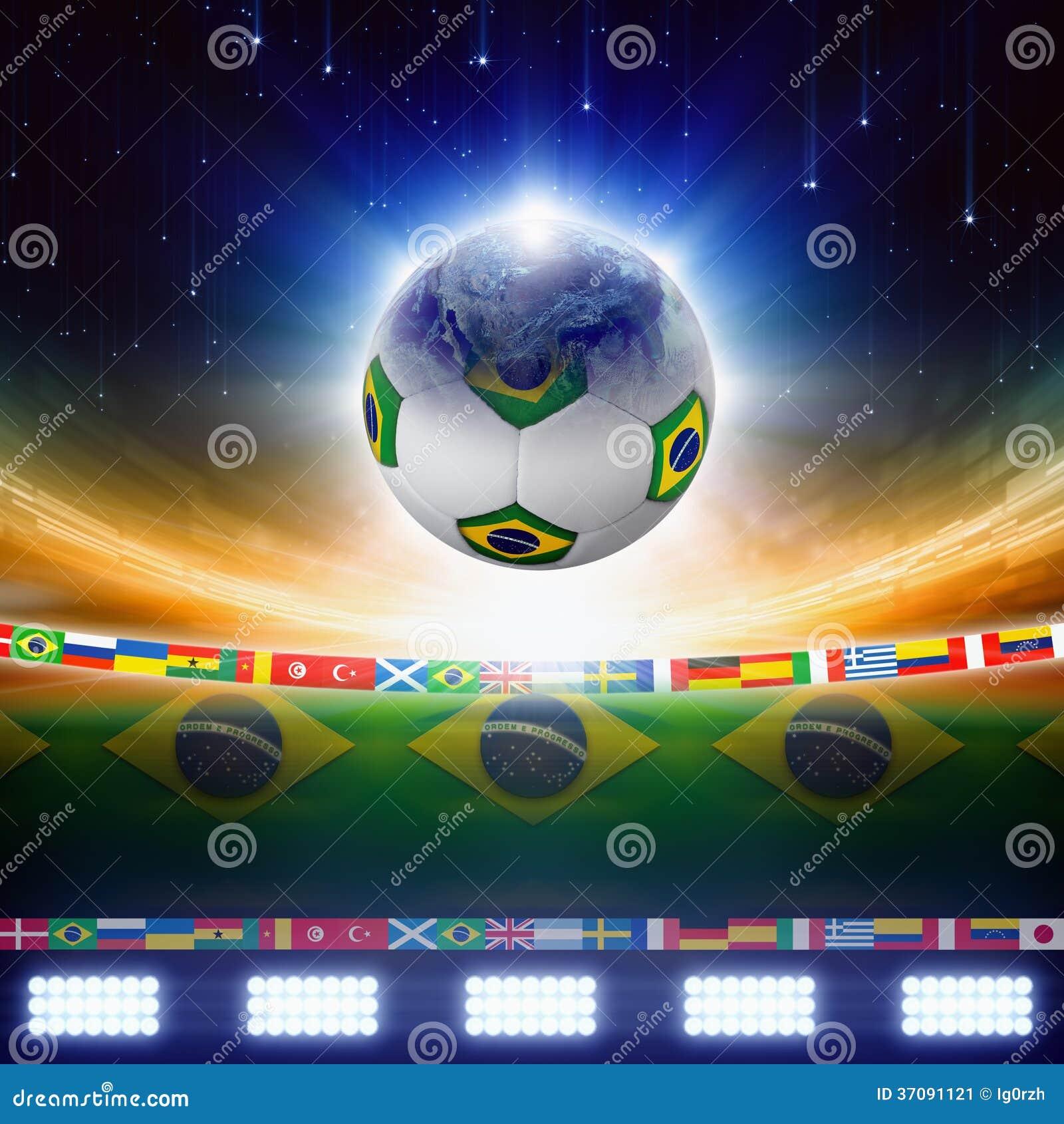 Download 2014 Brazylia piłka nożna obraz stock. Obraz złożonej z dopasowanie - 37091121
