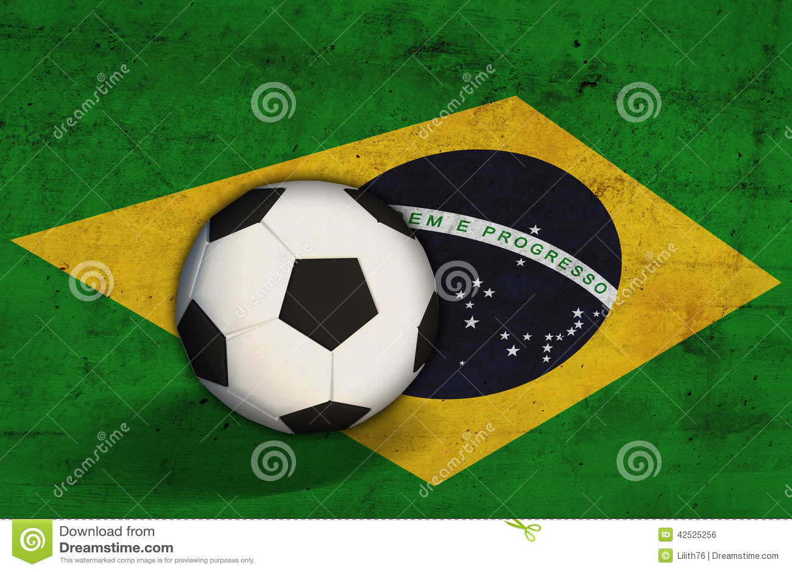 Brazylijczyk flaga z piłki nożnej piłką