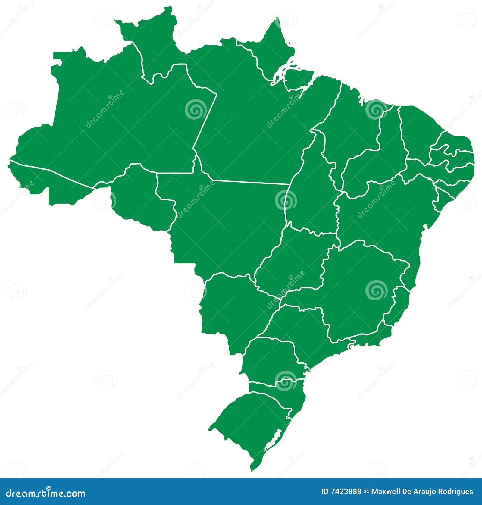 Brazylijska mapa