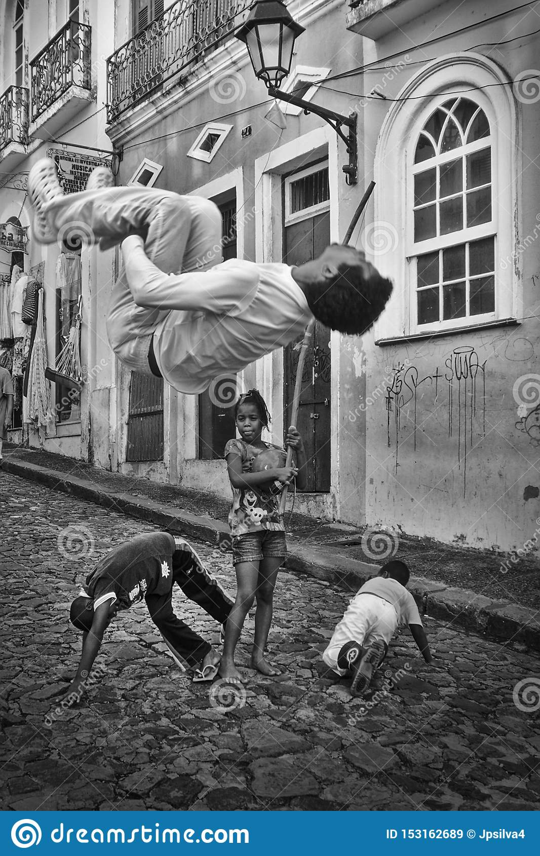 Brazylijski capoeira, Pelourinho, Salvador, Bahia, Brazylia