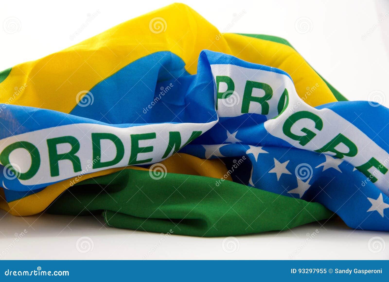 Brazylijskiej flagę