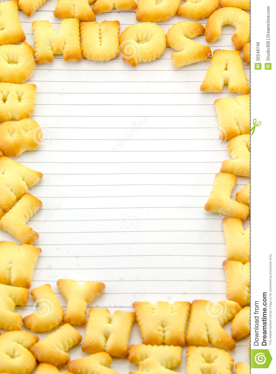 Bread alphabet frame stock image. Image of text, food - 32249749