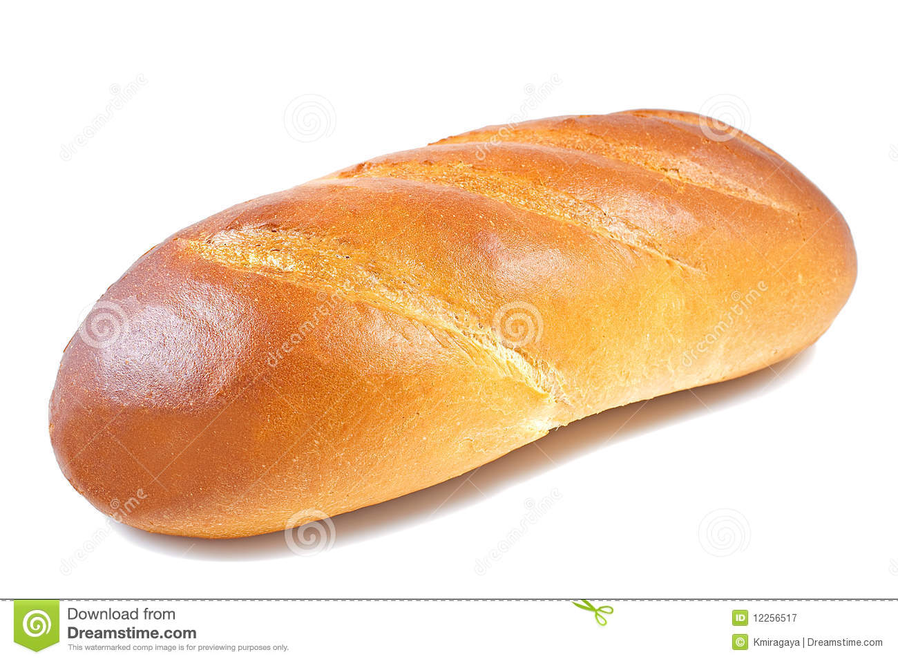 Bread Baguette In A White Background Stock Image Image