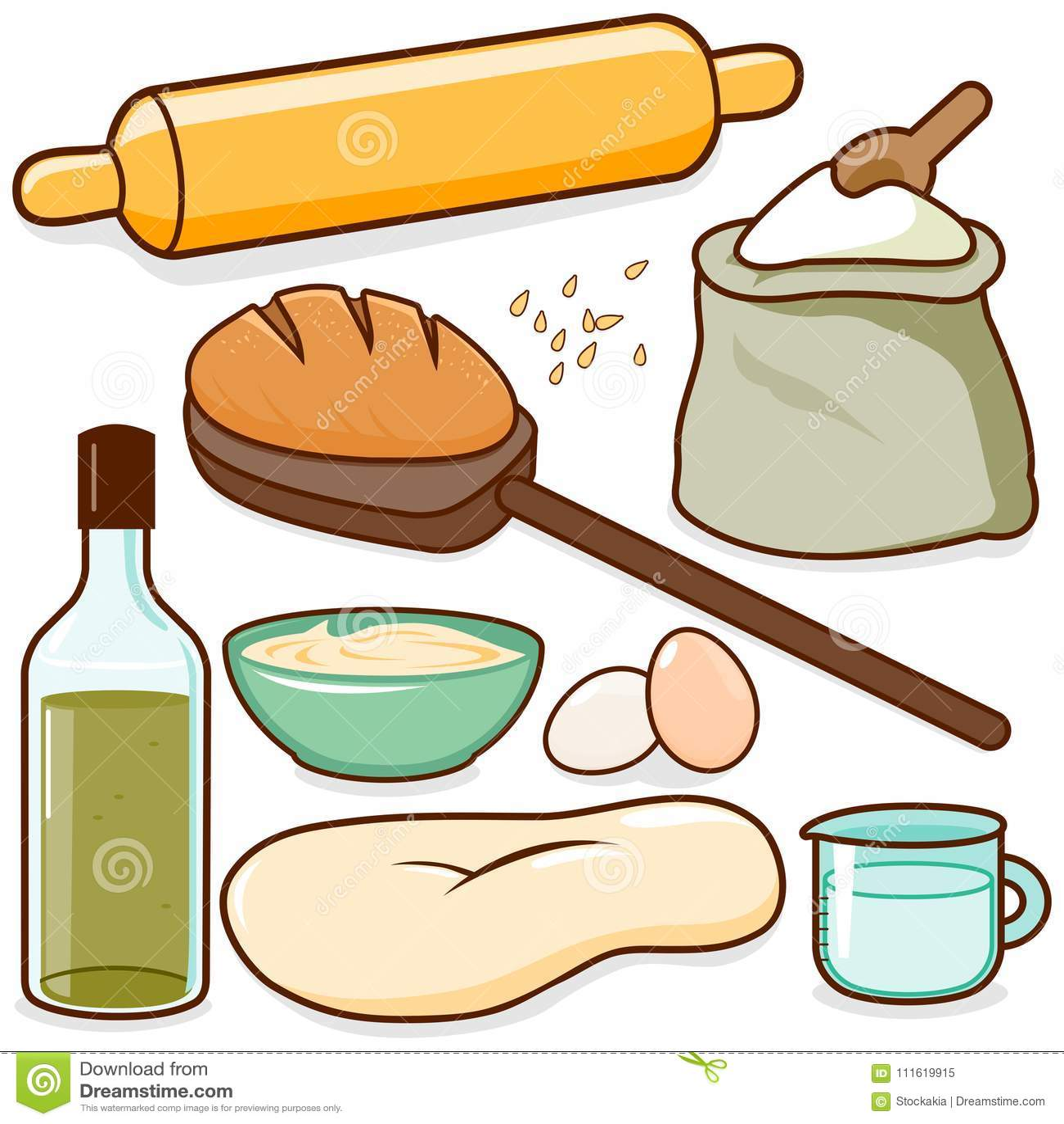 Bread baking recipe ingredients