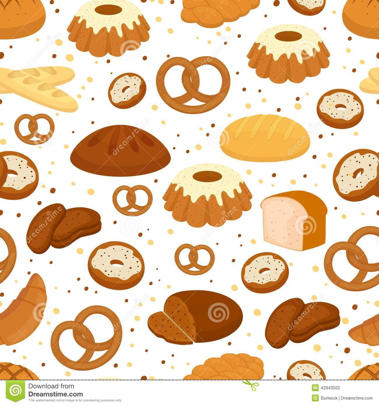 Bread And Baking Seamless Pattern Stock Vector Illustration Of
