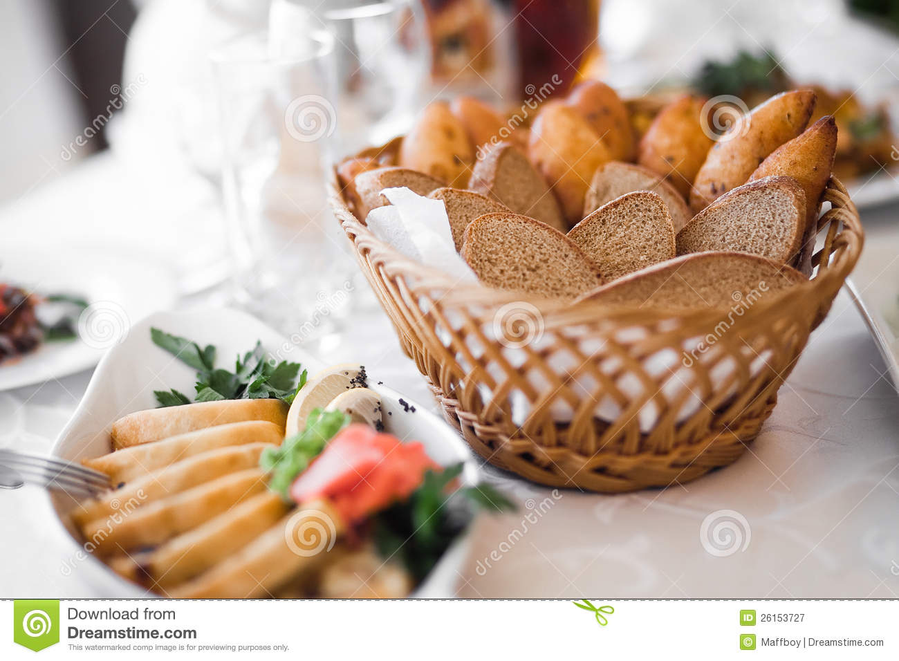 Bread Basket Royalty Free Stock Photography - Image: 26153727