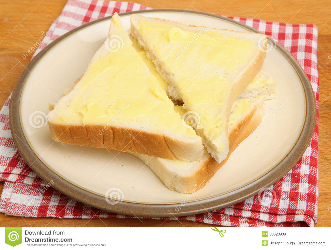 Bread And Butter Royalty Free Stock Images - Image: 33623939