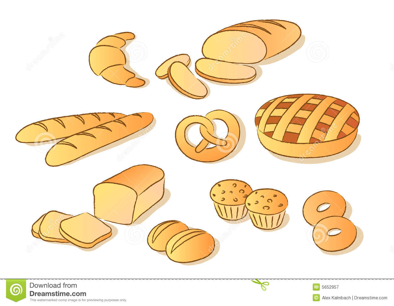 loaves of bread clipart