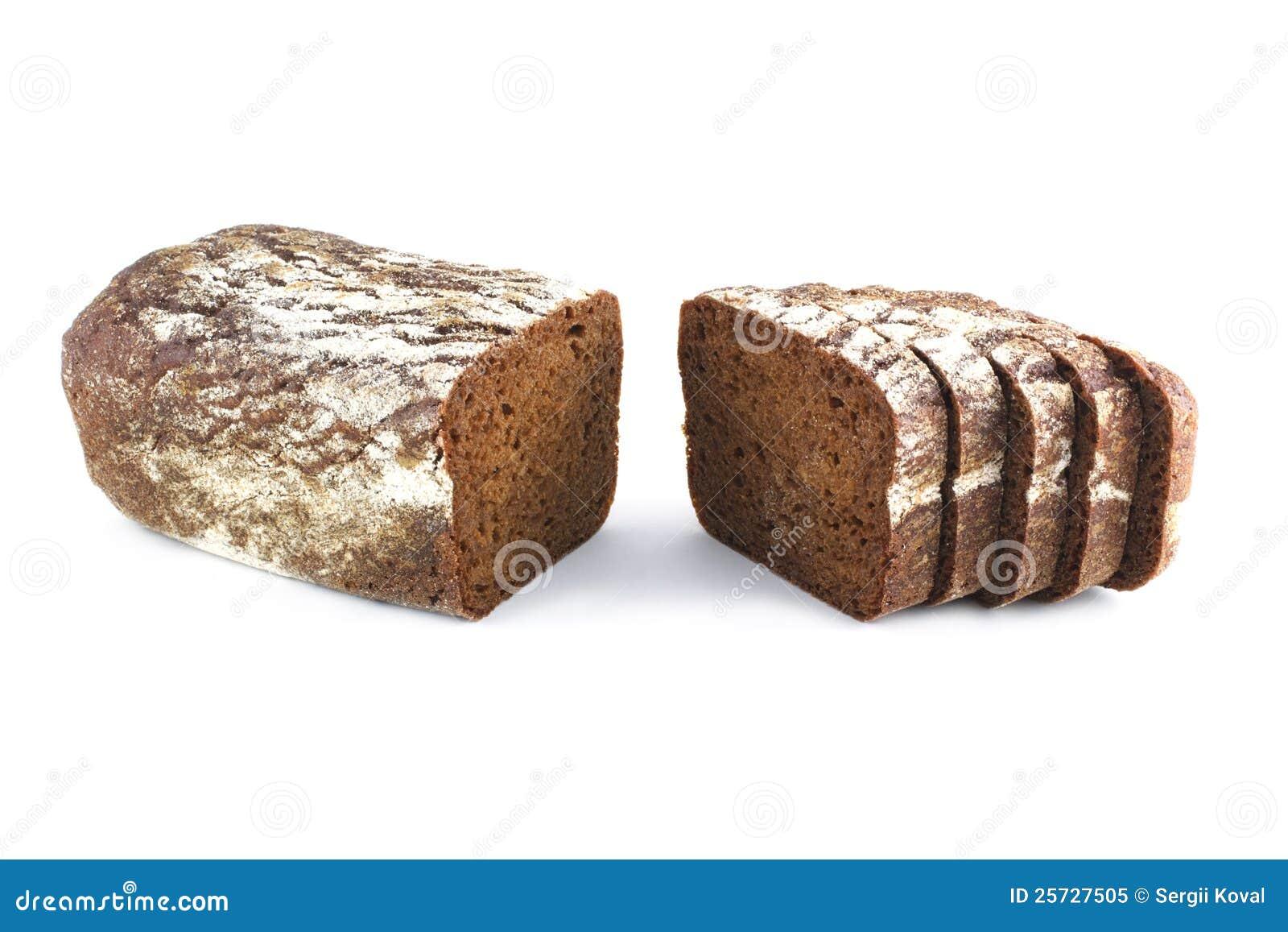 Bread is cut