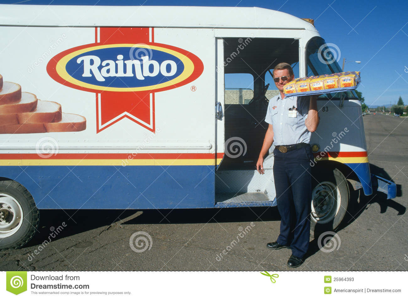 a bread delivery man editorial stock photo. image of truck - 25964393