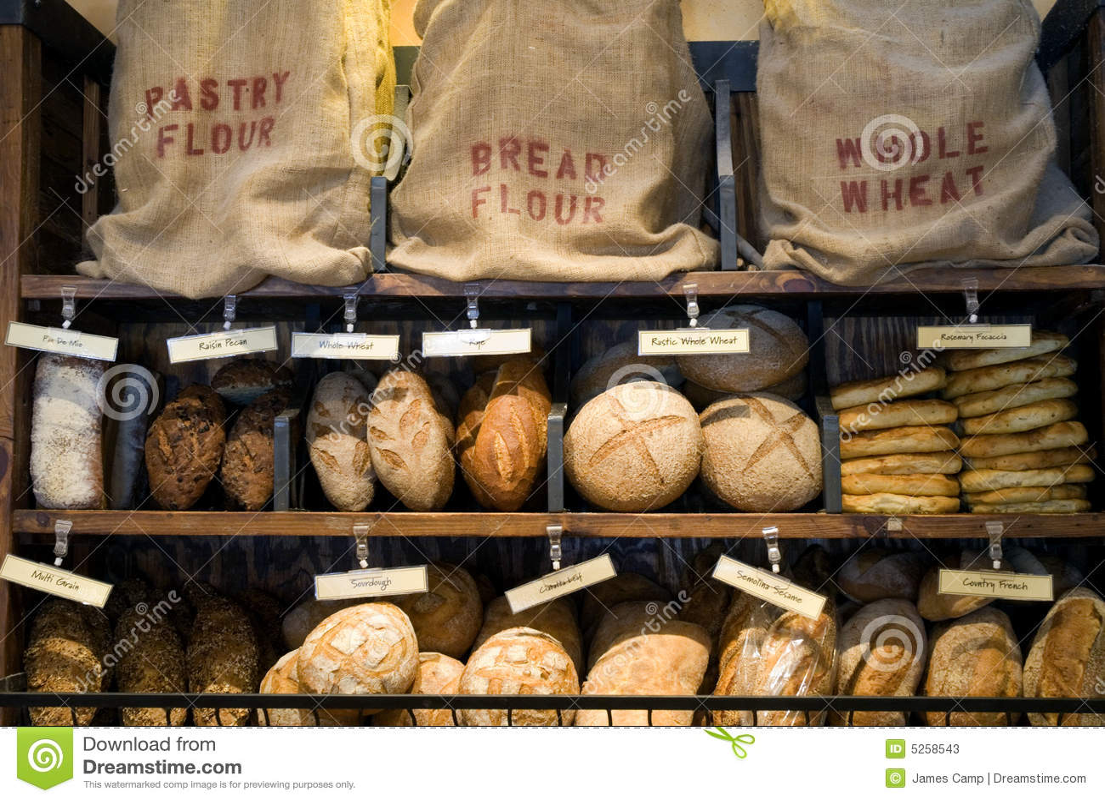 Bread Display Stock Photos Image 5258543