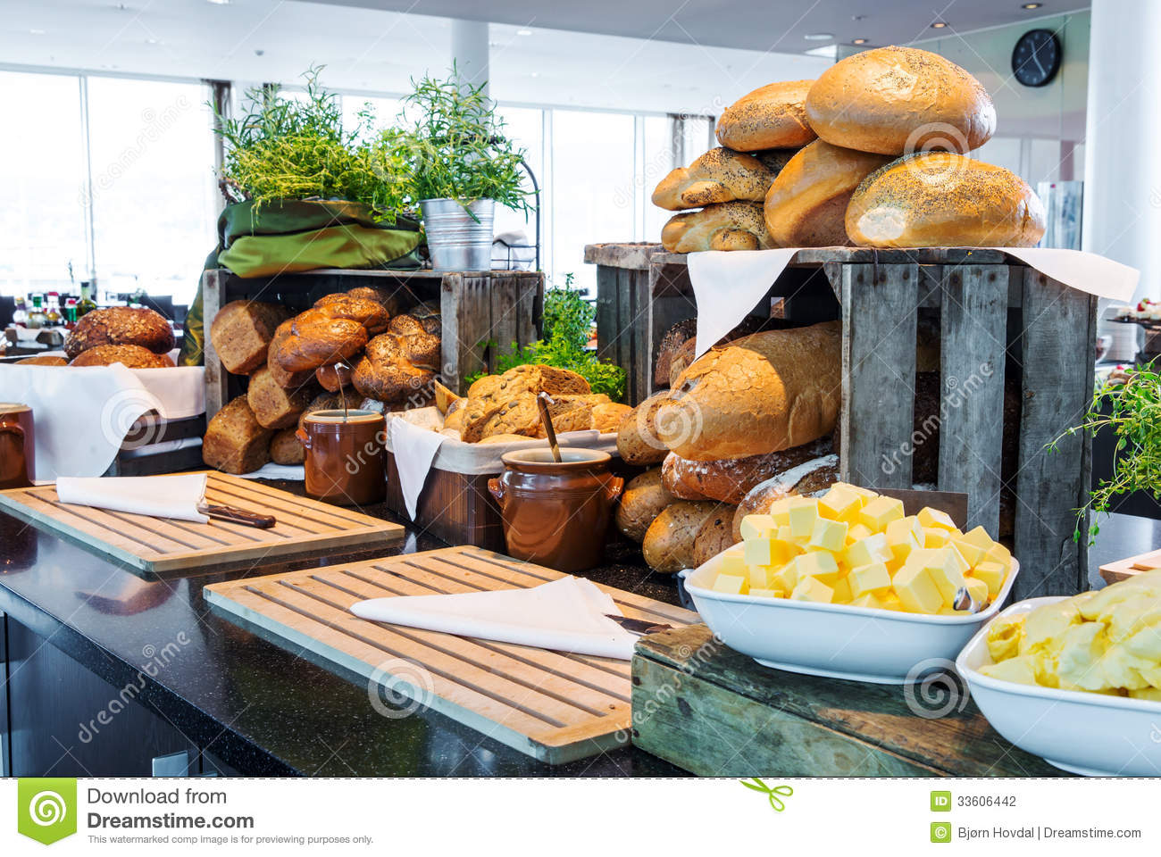 Bread Display At A Hotel Buffet Stock Photo Image 33606442