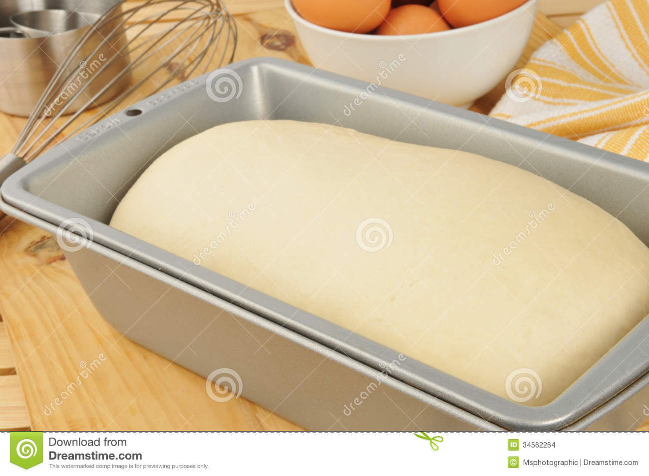 Bread Dough Rising Stock Photo Image Of Ingredients
