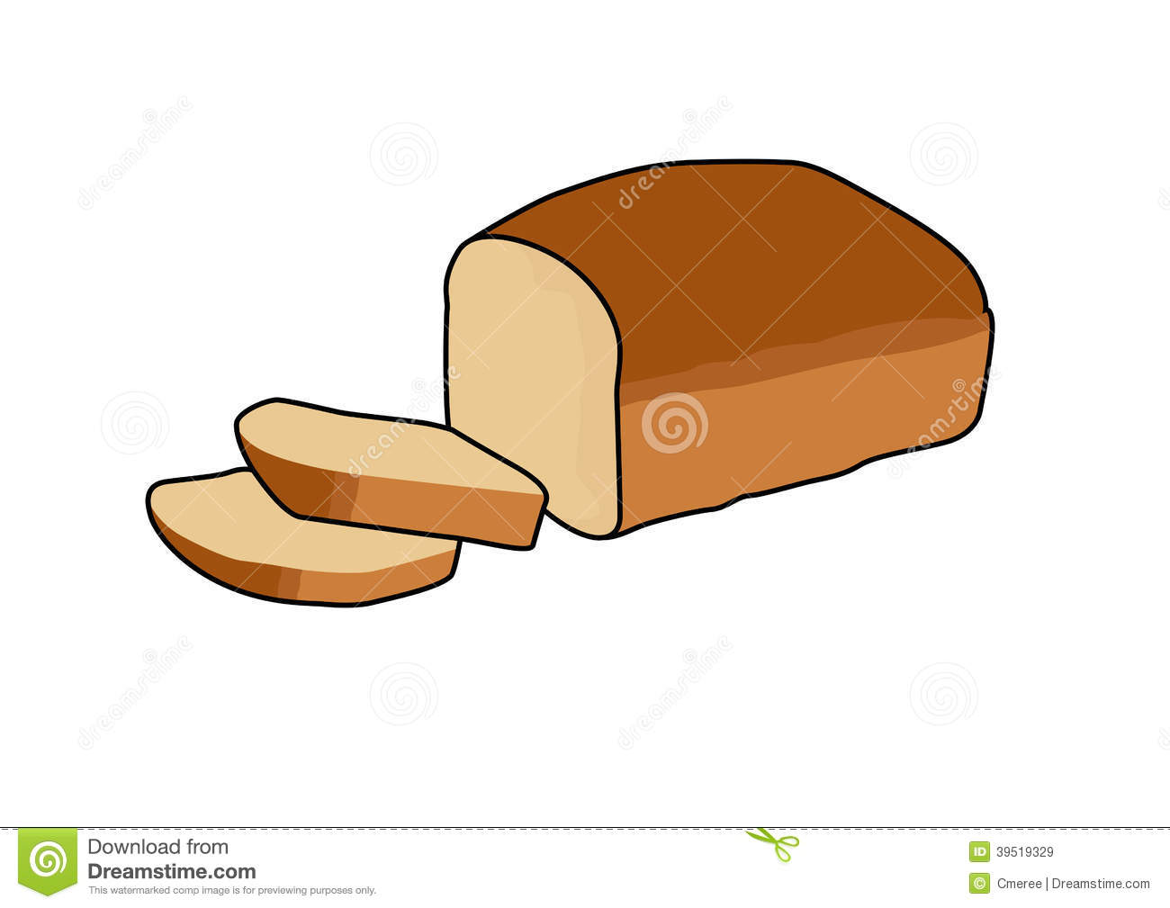 Bread Stock Vector Image 39519329
