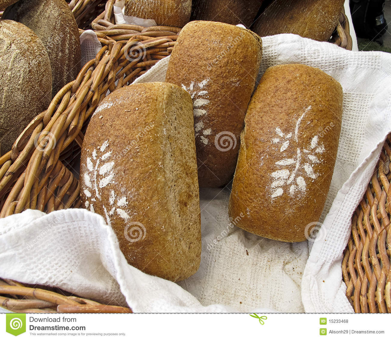 Bread at Farmers Market stock photo. Image of local, sale ...