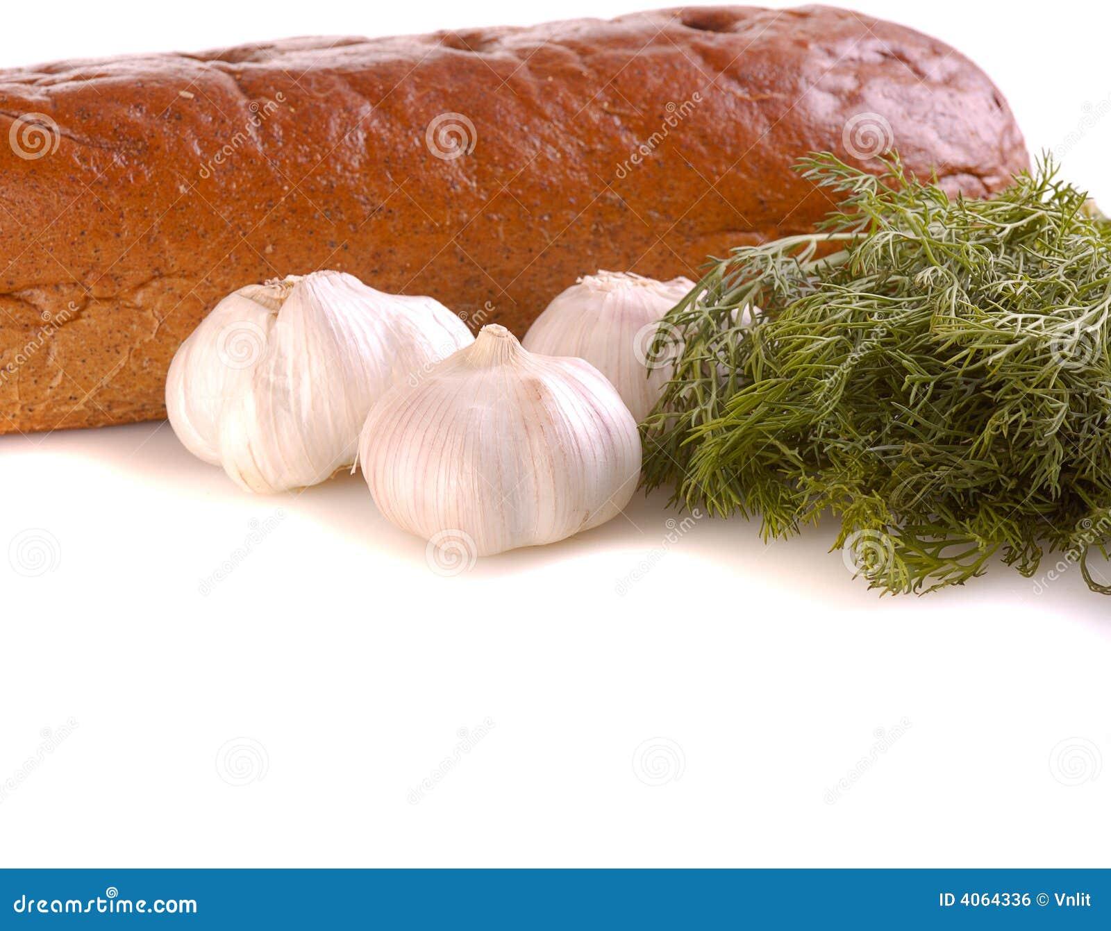 Bread and garlic