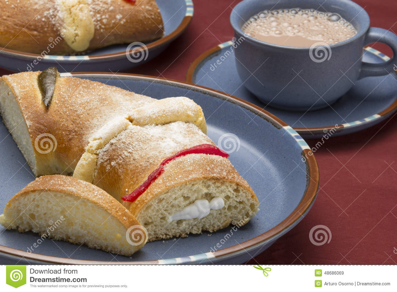 The Bread Of Kings Day Stock Photo