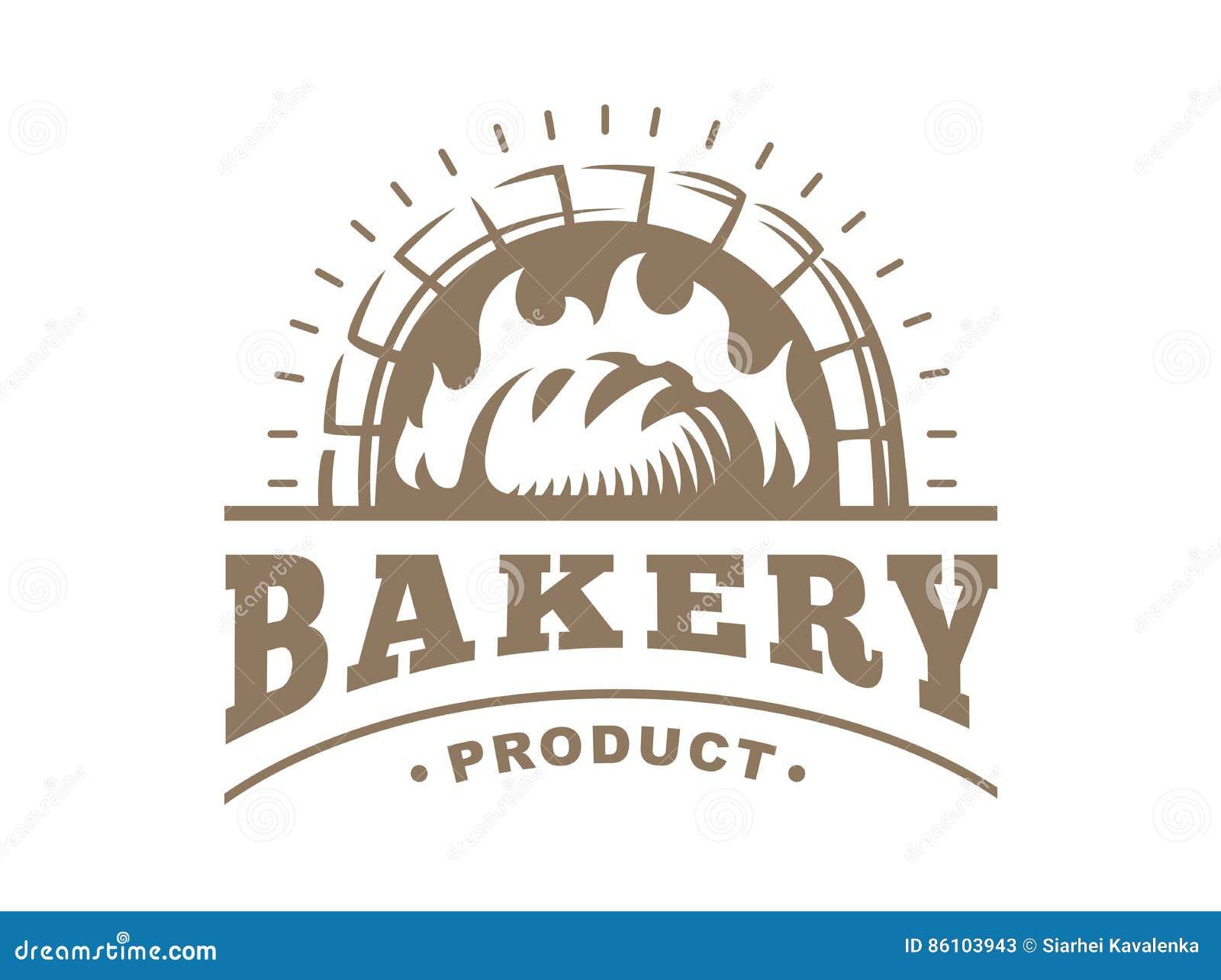 Bread Logo Vector Illustration Bakery Emblem On White
