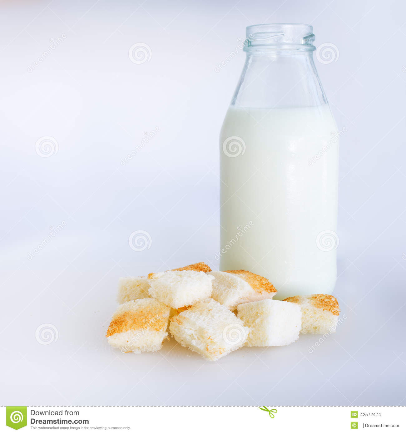 Bread and milk bottle