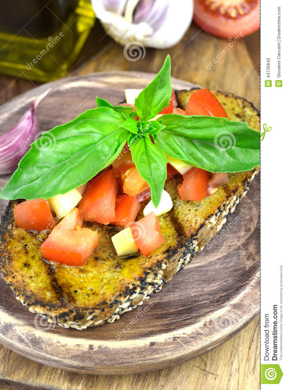 oil bread with olive oil basil tomato and garlic bread with olive oil ...