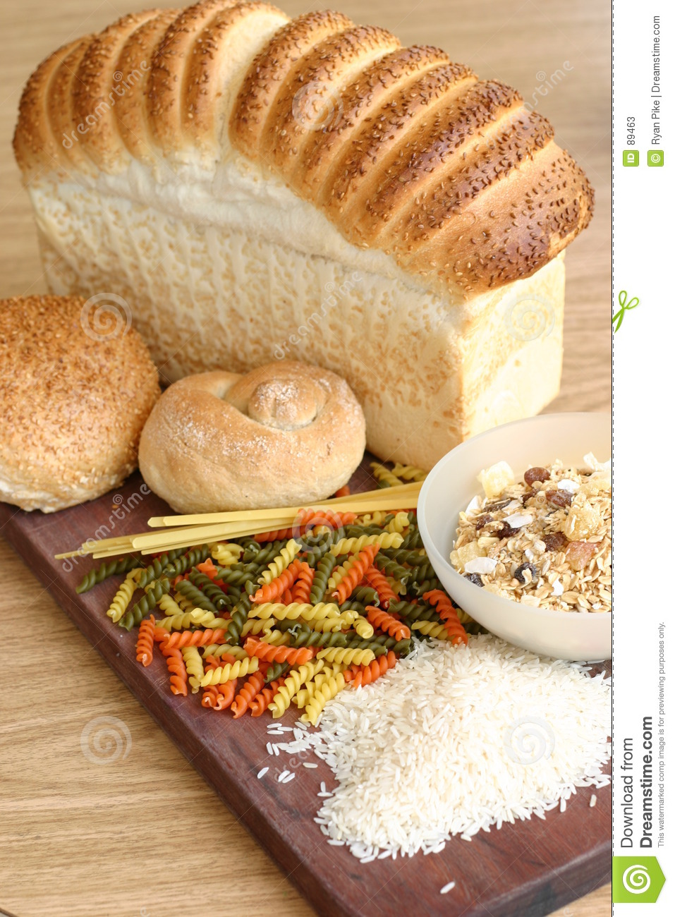 Bread Pasta Cereal Rice Stock Photos - Image: 89463