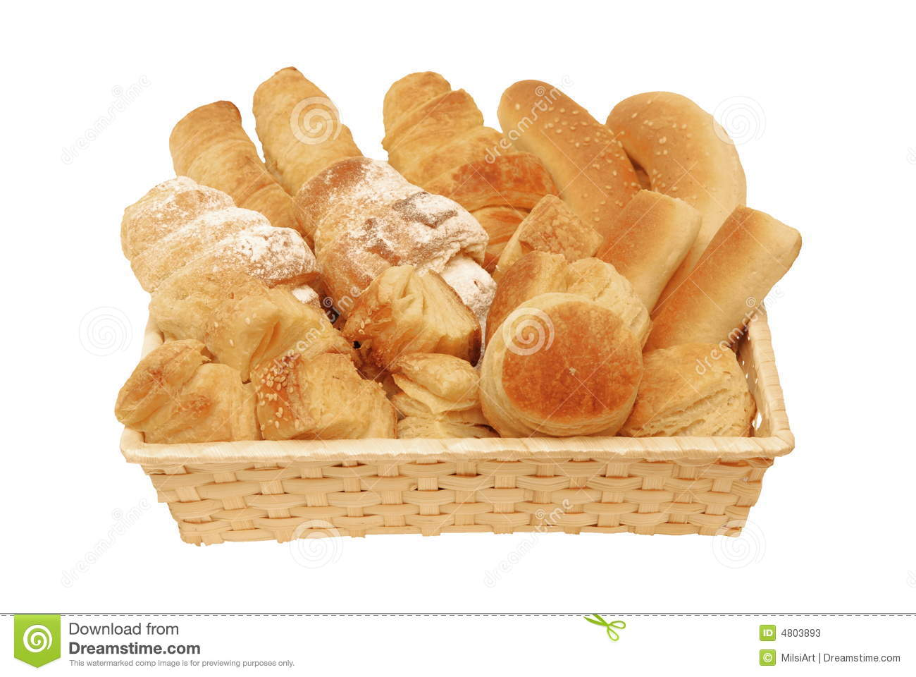 Bread And Pastry Assortment Stock Image - Image of brown ...