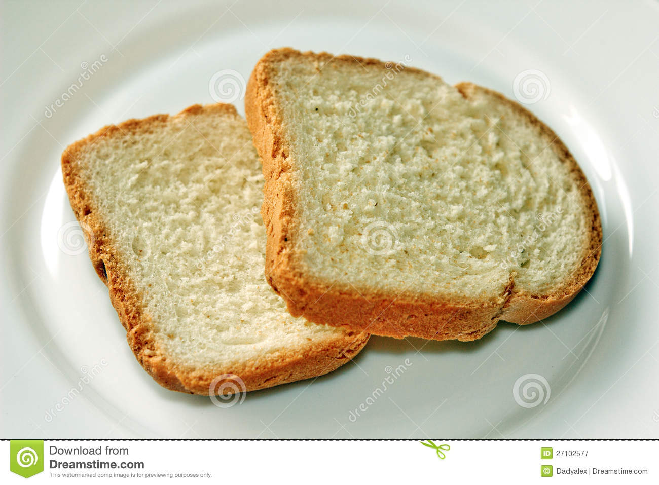 Bread On A Plate Royalty Free Stock Photography - Image ...