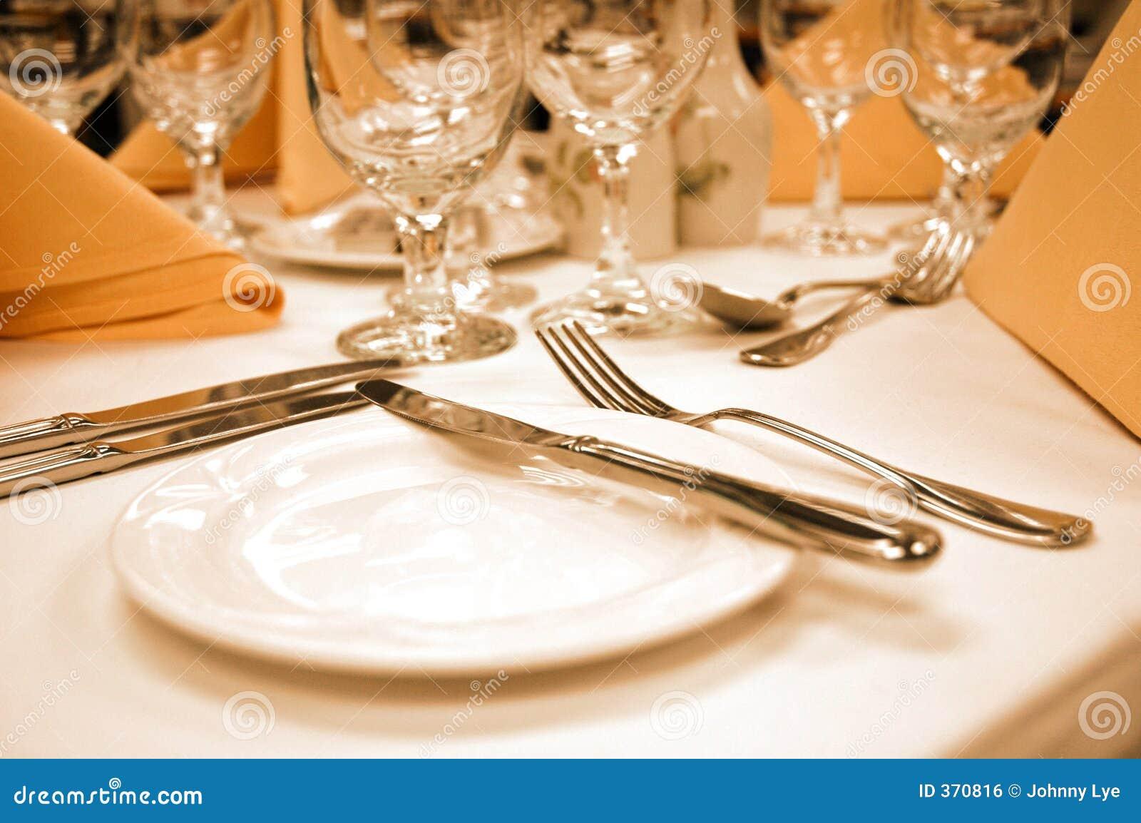Formal Dinner Setting Bread Plate Royalty Free Stock